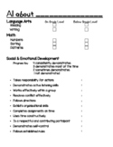 Kindergarten Conference Report Template