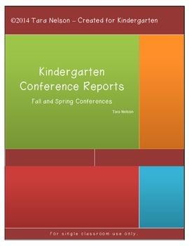 Kindergarten Conference Report to Parents