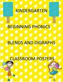 Kindergarten Consonant Blend Posters for Classroom