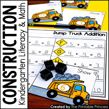 Kindergarten Construction Centers for Math and Literacy Activities