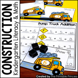 Kindergarten Construction Theme Centers | Math and Literacy Activities