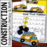 Kindergarten Construction Theme Centers   Math and Literac
