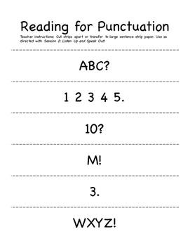 Kindergarten Conventions Trait: End Punctuation Unit using Mentor Text  Yo! Yes?