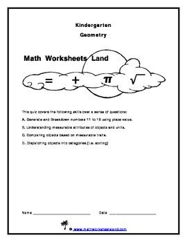 Kindergarten Core Aligned Geometry Quiz