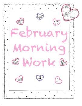Kindergarten Core Knowledge February Morning Work PLUS VALENTINES FREEBIES!