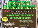 Fine Motor Kindergarten Core Science Curriculum Tongs and Center Time Labs