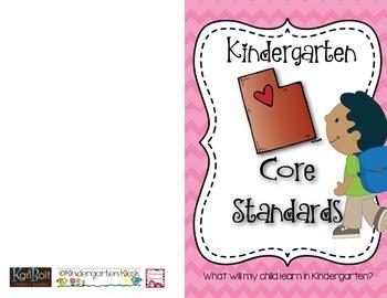 Kindergarten Core Standards Booklet: Utah