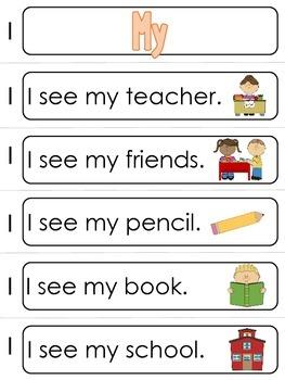Kindergarten Core Word Book