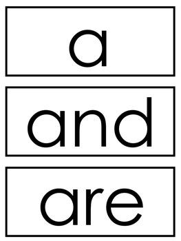 Kindergarten Core Words and Some Mini Books