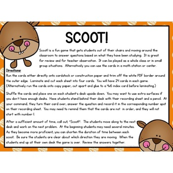 Kindergarten Count and Write Numbers Task Cards or Scoot