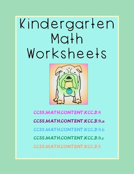 Kindergarten Math Worksheets: Count to tell how Many