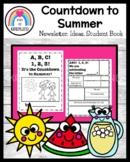 ABC Kindergarten Countdown to Summer! Newsletter, Ideas, Book (End of Year)