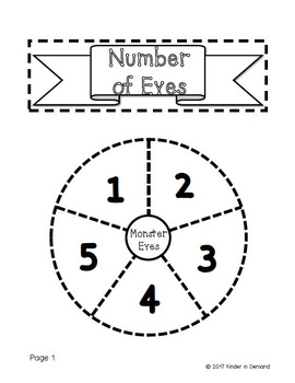Kindergarten Counting 1-5 Wheel Foldable