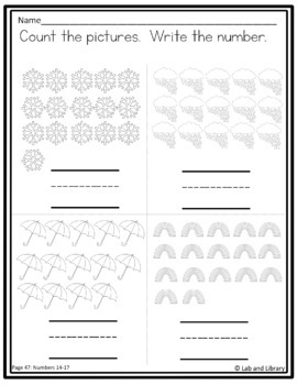 Kindergarten Counting: Centers and Printables for 11-20