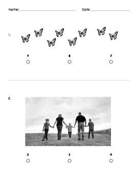 Kindergarten Counting Assessment