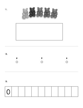 Kindergarten Counting Assessment