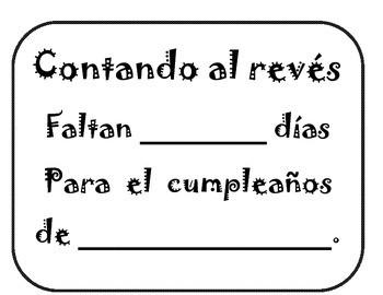 Kindergarten Counting Backwards English & Spanish Dual Language