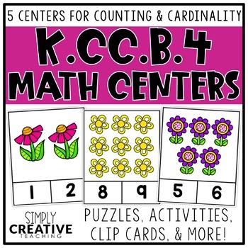 Kindergarten Counting & Cardinality Math Centers & Activities for K.CC.B.4
