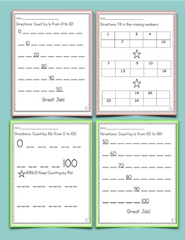 Kindergarten Counting & Cardinality Worksheets
