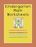 Kindergarten Counting & Cardinality Math Worksheets