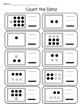 Kindergarten Counting: Dot Cards and Activities