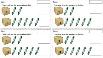 Kindergarten Counting Exit Slips