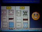 Kindergarten Counting Math Center:  Activboard Activity and Printables