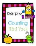 Kindergarten Counting Mini Pack