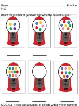 Kindergarten - Counting Numbers 0-10