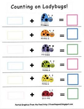 Kindergarten Counting On Ladybug Addition