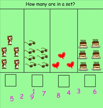 Kindergarten Counting Sets