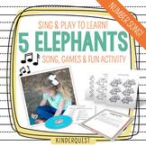 Kindergarten Counting Song: 5 Elephants | Song, Game & Activity