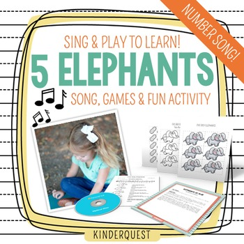 Kindergarten Counting Song: 5 Elephants | Song, Game & Activity