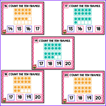 Kindergarten Counting Within 20 Digital Task Cards