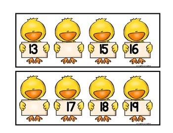 Kindergarten Counting Work Station