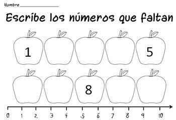 Kindergarten Counting Worksheets in Spanish / Hojas de contar Kinder