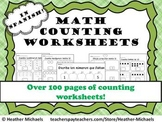 Kindergarten Counting Worksheets in Spanish / Hojas de contar Kinder