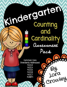 Kindergarten Counting and Cardinality Assessment Pack