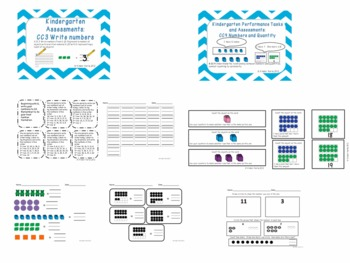 Kindergarten Counting and Cardinality Assessments {BUNDLED}