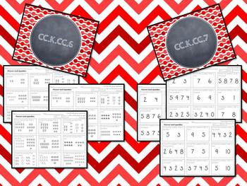 Kindergarten Common Core Counting & Cardinality Assessments