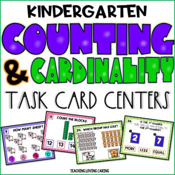 Kindergarten Counting and Cardinality Math Center