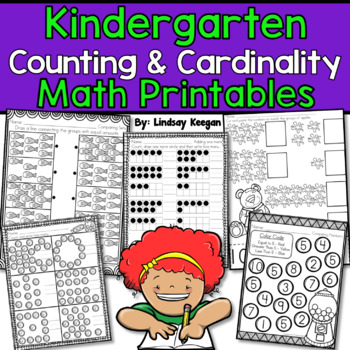 Kindergarten Common Core Counting and Cardinality Math Printables