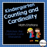 Kindergarten Counting Math Work Stations