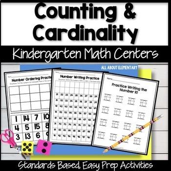 Kindergarten Counting Math Work Stations
