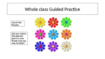 Kindergarten Counting and Cardinality Mini Lesson, Guided/Indpendent Practice