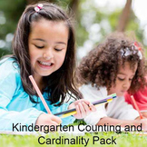 Kindergarten Counting and Cardinality Pack - Worksheets, Counting Book, Game