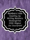 Kindergarten-Counting and Identifying Numbers Mini-Unit CCSS Aligned