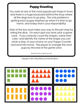 Kindergarten Counting and Shape Identification Game