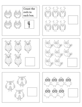 Kindergarten Counting to 10 Worksheets or Center Cards