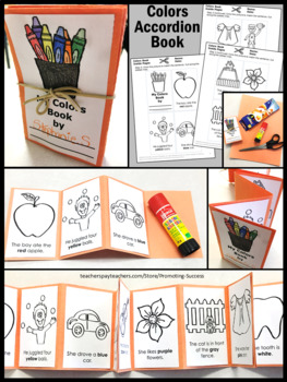 Learning Color Words Practice Craftivity, ESL Vocabulary for Beginners SPS